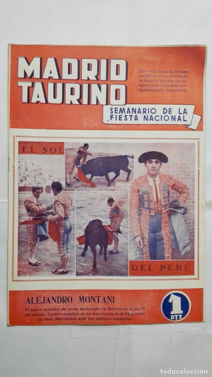 MADRID TAURINO, SEMANARIO DE LA FIESTA NACIONAL, Nº 452, AGOSTO 1944 (Coleccionismo - Tauromaquia)