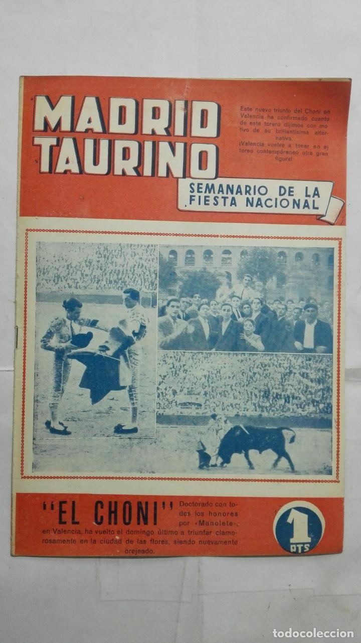 MADRID TAURINO, SEMANARIO DE LA FIESTA NACIONAL, Nº 460, NOVIEMBRE 1944 (Coleccionismo - Tauromaquia)