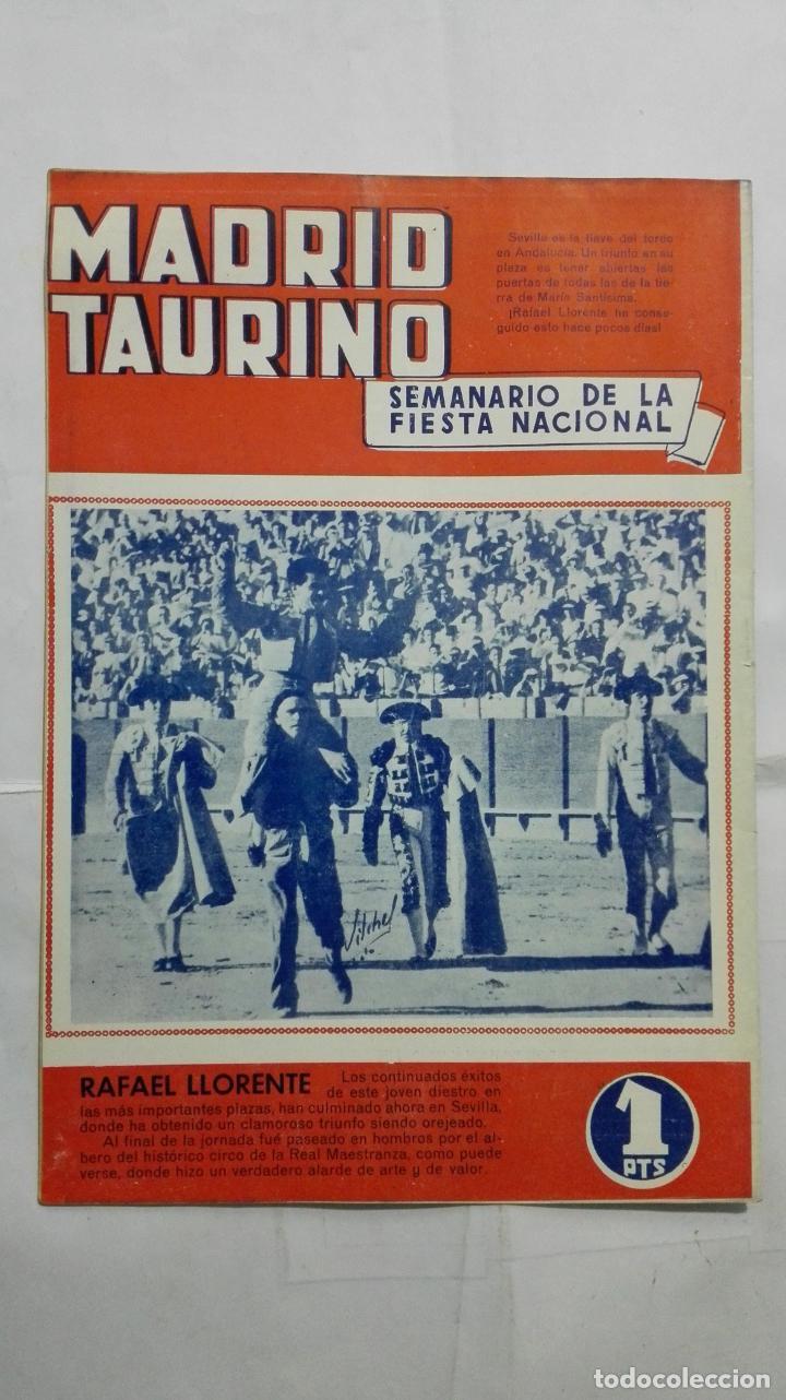 Tauromaquia: MADRID TAURINO, SEMANARIO DE LA FIESTA NACIONAL, Nº 457, OCTUBRE 1944 - Foto 2 - 194248768