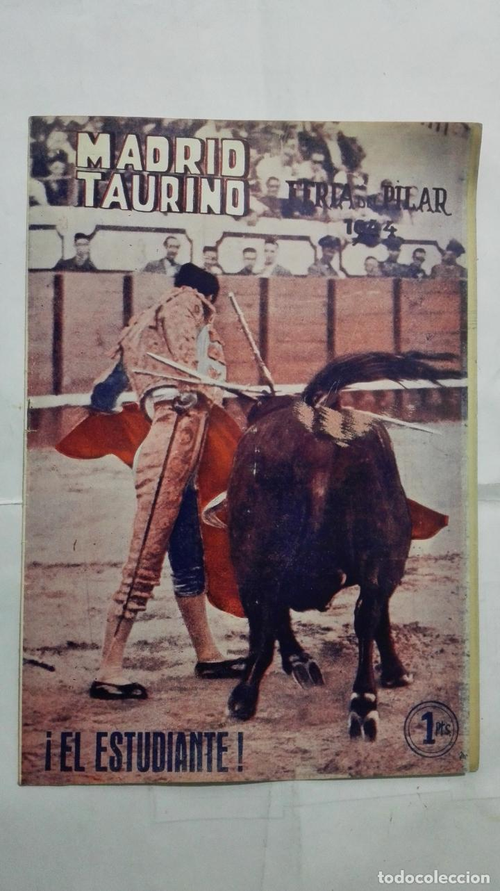MADRID TAURINO, SEMANARIO DE LA FIESTA NACIONAL, Nº 457, OCTUBRE 1944 (Coleccionismo - Tauromaquia)