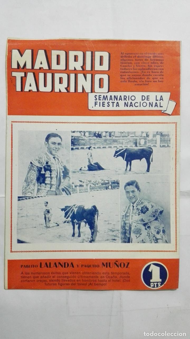 Tauromaquia: MADRID TAURINO, SEMANARIO DE LA FIESTA NACIONAL, Nº 454, SEPTIEMBRE 1944 - Foto 2 - 194248913