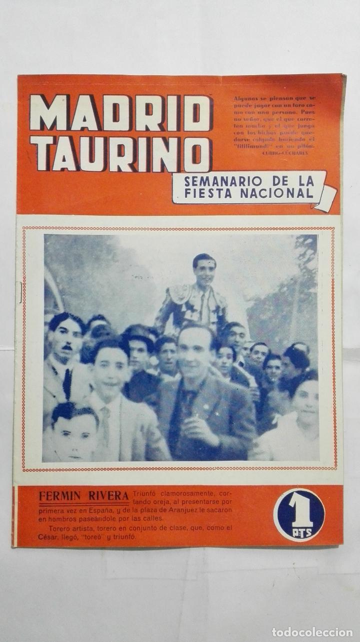 MADRID TAURINO, SEMANARIO DE LA FIESTA NACIONAL, Nº 454, SEPTIEMBRE 1944 (Coleccionismo - Tauromaquia)