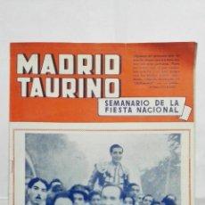 Tauromaquia: MADRID TAURINO, SEMANARIO DE LA FIESTA NACIONAL, Nº 454, SEPTIEMBRE 1944. Lote 194248913