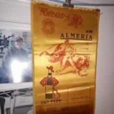 Tauromaquia: CARTEL SEDA EN ALMERIA FERIA VIRGEN DEL MAR 1974-- 6 ESPECTACULOS TAURINOS . 18 X 39 . Lote 194277523