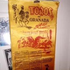 Tauromaquia: CARTEL SEDA TOROS EN GRANADA FERIA 1973 - SEIS CORIDAS Y UNA NOVILLADA 25 X 50. Lote 194278493