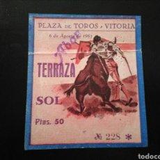 Tauromaquia: ENTRADA TOROS VITORIA (6/8/1961). Lote 194279652