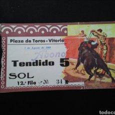 Tauromaquia: ENTRADA TOROS VITORIA (7/8/1969). Lote 194280240