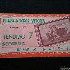 Tauromaquia: ENTRADA TOROS VITORIA (6/8/1953) 1. Lote 194280757
