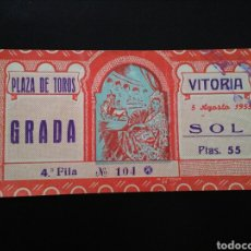 Tauromaquia: ENTRADA TOROS VITORIA (5/8/1953). Lote 194280963