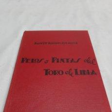 Tauromaquia: PELOS O PINTAS DEL TORO DE LIDIA. J.M. ROMERO ESCACENA. PRIMERA EDICIÓN MADRID 1953. Lote 194332988