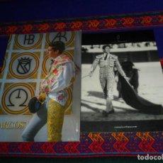 Tauromaquia: FOTO TORERO MANUEL ESCRIBANO 21X15 CMS. REGALO FOTO TORERO MARCOS 23,5X16,5 CMS. . Lote 194359663