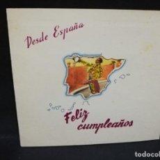 Tauromaquia: TARJETA FELICITACION. DESDE ESPAÑA FELIZ CUMPLEAÑOS. Nº 7, EL BRINDIS. VER FOTOS. . Lote 194584362