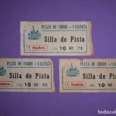 Tauromaquia: 3 ENTRADAS CIRCO RUSO PLAZA TOROS VALENCIA. Lote 194590475