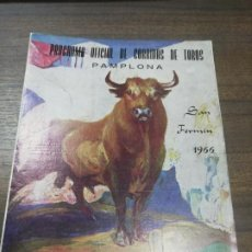 Tauromaquia: PROGRAMA OFICIAL CORRIDAS DE TOROS. SAN FERMIN. PAMPLONA. 1966. TRICTICO.. Lote 194663905