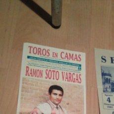 Tauromaquia: CARTEL PEQUENO FORMATO. TOROS EN CAMAS. 1992. RAMÓN SOTO VARGAS, LITRI, ESPARTACO, CAMPUZANO.. Lote 194723568