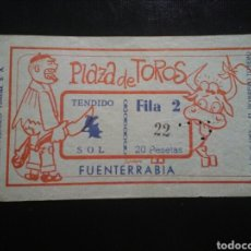 Tauromaquia: ENTRADA TOROS FUENTERRABIA BOMBERO TORERO 1963. Lote 194728277