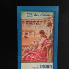 Tauromaquia: ENTRADA TOROS SAN SEBASTIAN (30/08/1953). Lote 194768755