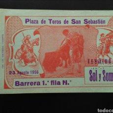 Tauromaquia: ENTRADA TOROS SAN SEBASTIAN (23/08/1956). Lote 194770513