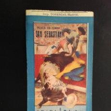 Tauromaquia: ENTRADA TOROS SAN SEBASTIAN (18/08/1949). Lote 194771256