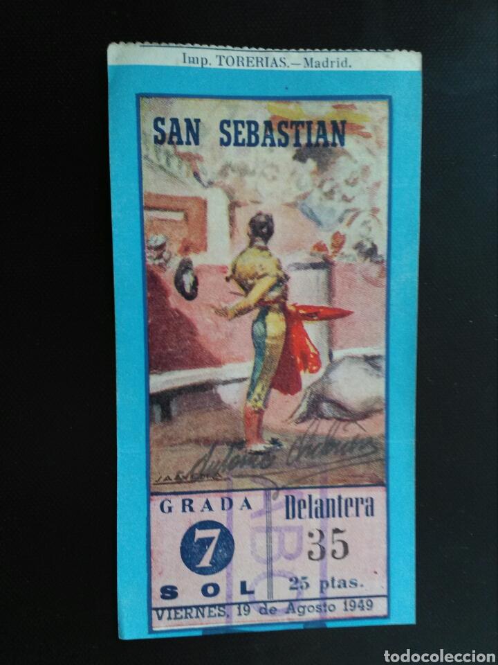 ENTRAFA TOROS SAN SEBASTIAN (19/08/1949) (Coleccionismo - Tauromaquia)