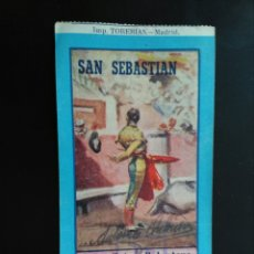 Tauromaquia: ENTRAFA TOROS SAN SEBASTIAN (19/08/1949). Lote 194771396