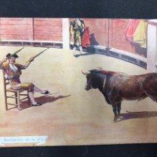 Tauromaquia: POSTAL BANDERILLAS EN LA SILLA, PLAZA DE TOROS DE SALAMANCA, 1908. Lote 194887146