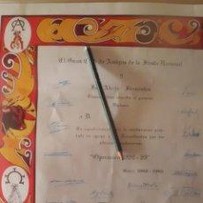 Tauromaquia: CLUB DE AMIGOS DE LA FIESTA NACIONAL, DIPLOMA ESPECTACULAR FIRMADO. Lote 194889065
