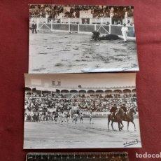 Tauromaquia: FERIA DE SAN MATEO. LOGROÑO 1963. LOTE DE 2 FOTOS. CAMINO, EL VITI, PALMEÑO. Lote 195044780