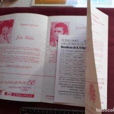 Tauromaquia: BILBAO. PROGRAMA DE TOROS DE 1986. Lote 195045291