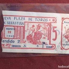 Tauromaquia: SAN SEBASTIÁN. ENTRADA DE TOROS DE 1948. Lote 195045556