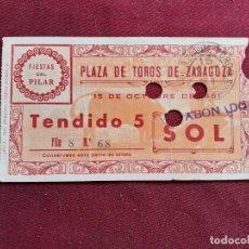 Tauromaquia: ZARAGOZA. ENTRADA DE TOROS DE 1951. Lote 195045591