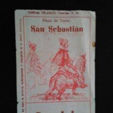 Tauromaquia: ENTRADA TOROS SAN SEBASTIAN (22/08/1968). Lote 195108363