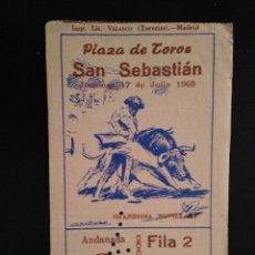 Tauromaquia: ENTRADA TOROS SAN SEBASTIAN (17/07/1960). Lote 195108508