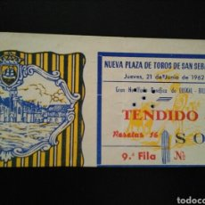 Tauromaquia: ENTRADA TOROS SAN SEBASTIAN (21/06/1962) BILLAR VASCO. Lote 195108603