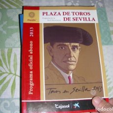 Tauromaquia: PLAZA DE TOROS DE SEVILLA , ABONO 2013. Lote 195119120