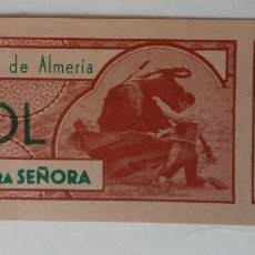Tauromaquia: ENTRADA PLAZA DE TOROS DE ALMERÍA, JUNIO 1957. Lote 195140946