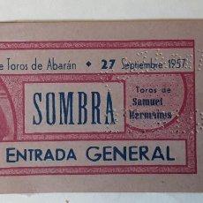 Tauromaquia: ENTRADA PLAZA DE TOROS DE ABARÁN, SEPTIEMBRE 1957. Lote 195144553