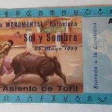Tauromaquia: ENTRADA PLAZA DE TOROS MONUMENTAL DE BARCELONA, MAYO 1959. Lote 195144696