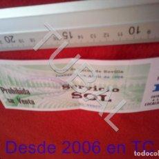 Tauromaquia: TUBAL SEVILLA MAESTRANZA 1996 FERIA ABRIL SERVICIO SOL ENTRADA B49. Lote 195162198