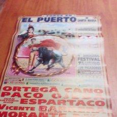 Tauromaquia: CARTEL DE TORO. EL PUERTO DE SANTA MARIA. 23 MARZO 2003 ORTEGA CANO. ESPARTACO. PACO OJEDA.. BBB. Lote 195172492