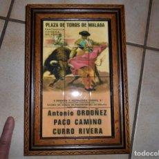 Tauromaquia: TAUROMAQUIA CARTEL DE CORRIDA TOROS ENMARCADO MATERIALES MADERA Y PLASTICO COMO NUEVO. Lote 195181780