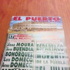 Tauromaquia: CARTEL DE TOROS. EL PUERTO DE SANTA MARIA. GRAN TEMPORADA TAURINA DEL VERANO 2000. BBB. Lote 195225742