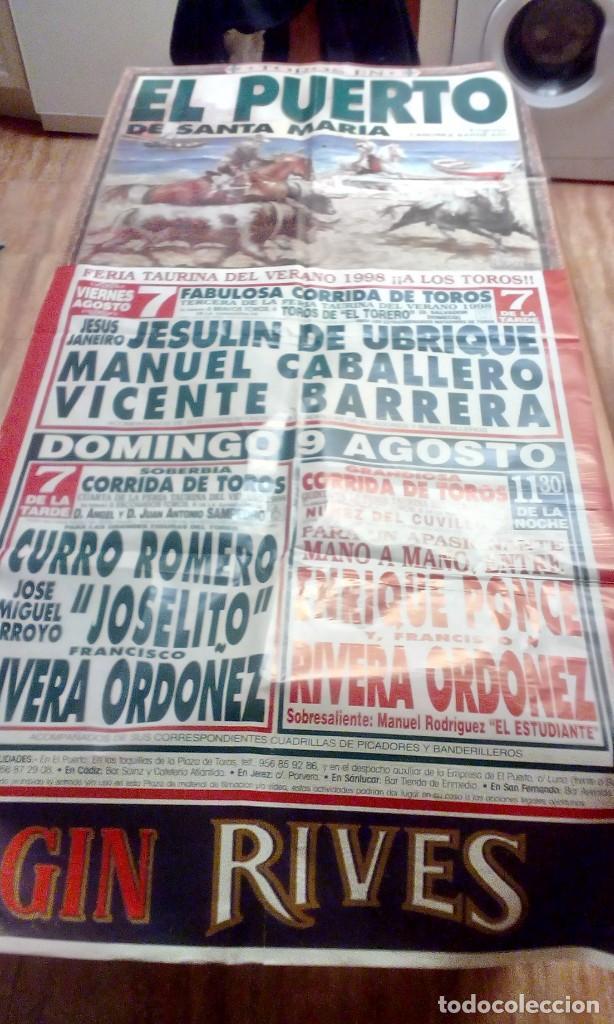GRAN CARTEL DE TOROS. EL PUERTO. FERIA TAURINA DEL VERANO 1998. BBB (Coleccionismo - Tauromaquia)