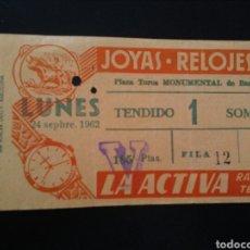Tauromaquia: ENTRADA TOROS BARCELONA (24/09/1962). Lote 195236736