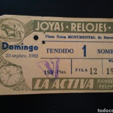 Tauromaquia: ENTRADA TOROS BARCELONA (23/09/1962). Lote 195236873