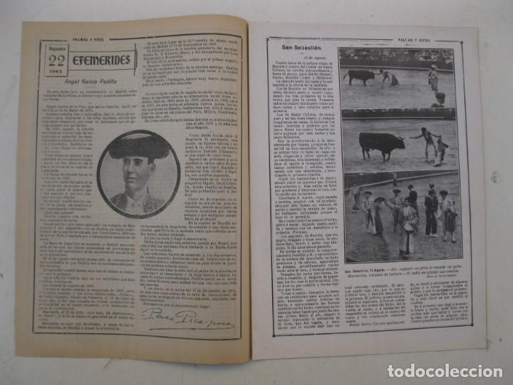 Tauromaquia: PALMAS Y PITOS - AÑO II - Nº 75 - EUSEBIO FUENTES - AGOSTO DE 1914. - Foto 2 - 195275768