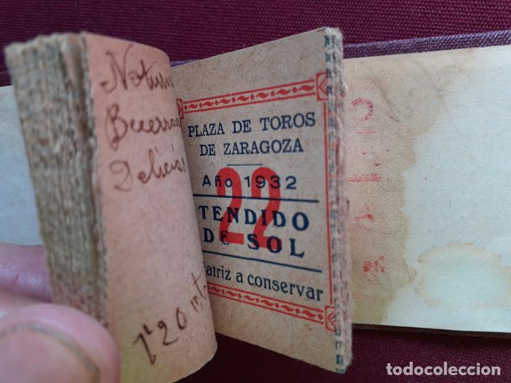 Tauromaquia: Zaragoza. 30 matrices de entradas de toros. 1932 - Foto 3 - 195320240