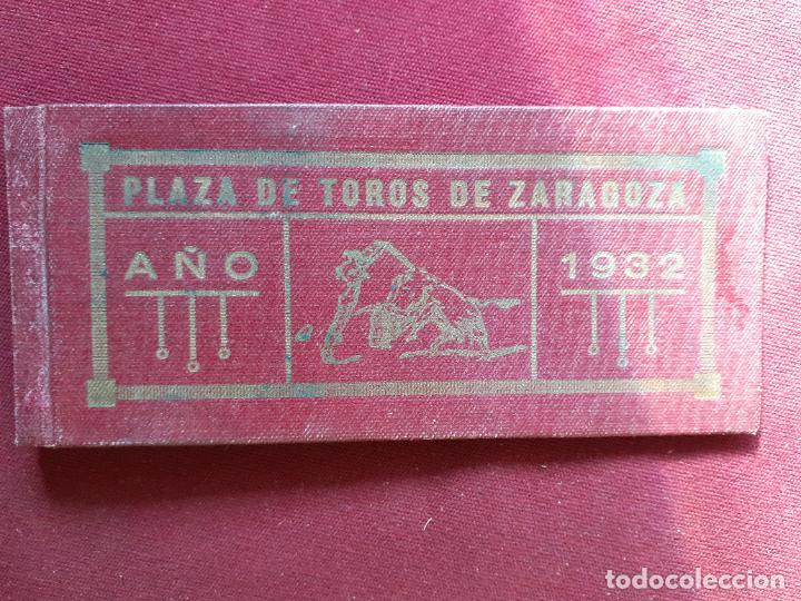 ZARAGOZA. 30 MATRICES DE ENTRADAS DE TOROS. 1932 (Coleccionismo - Tauromaquia)