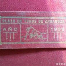 Tauromaquia: ZARAGOZA. 30 MATRICES DE ENTRADAS DE TOROS. 1932. Lote 195320240