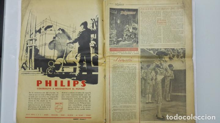 Tauromaquia: PERIODICO SEMANAL DIGAME, EXTRAORDINARIO DE TOROS, MARZO DE 1948 - Foto 2 - 195331978